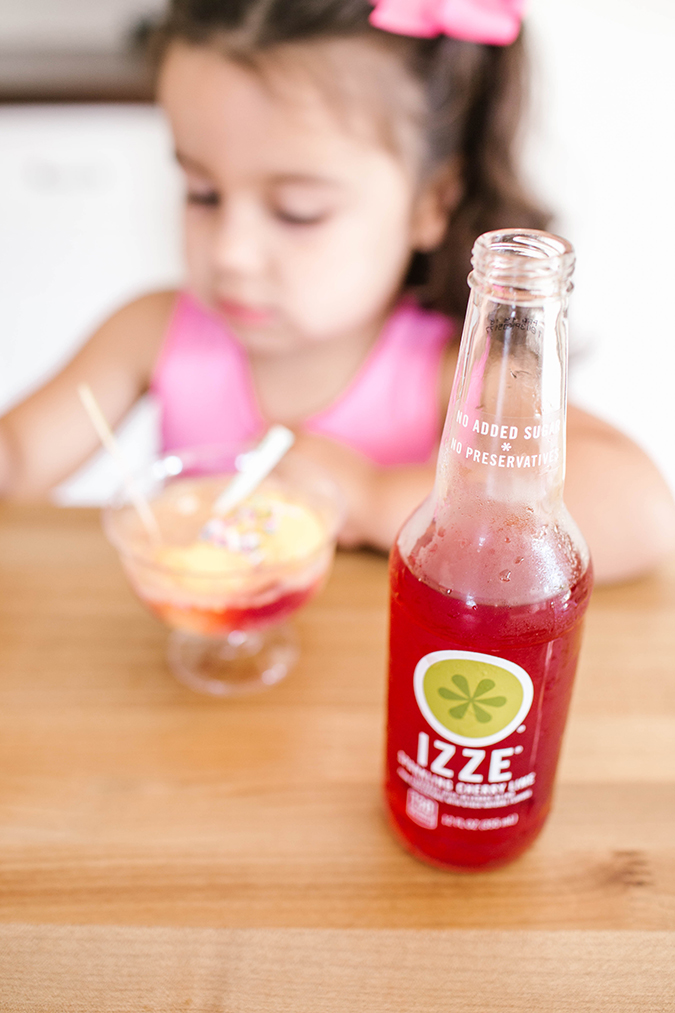 End-of-summer ice cream floats with IZZE