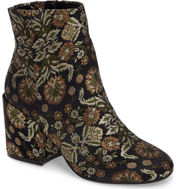 Kenneth Cole Floral Booties