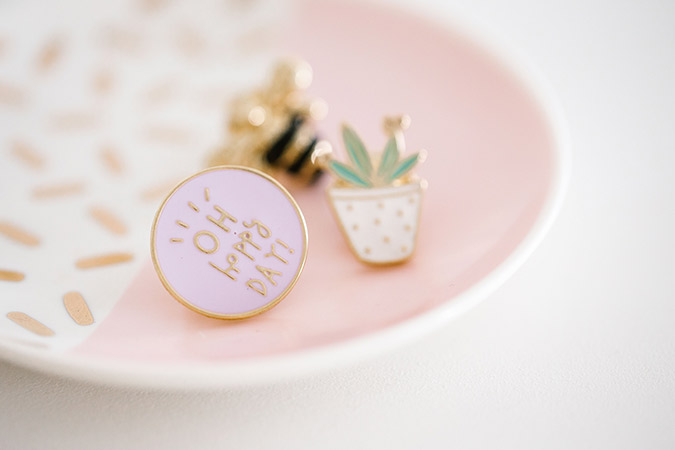 "LC Lauren Conrad Bee, Cactus & ""Oh Happy Day!"" Pin Set"