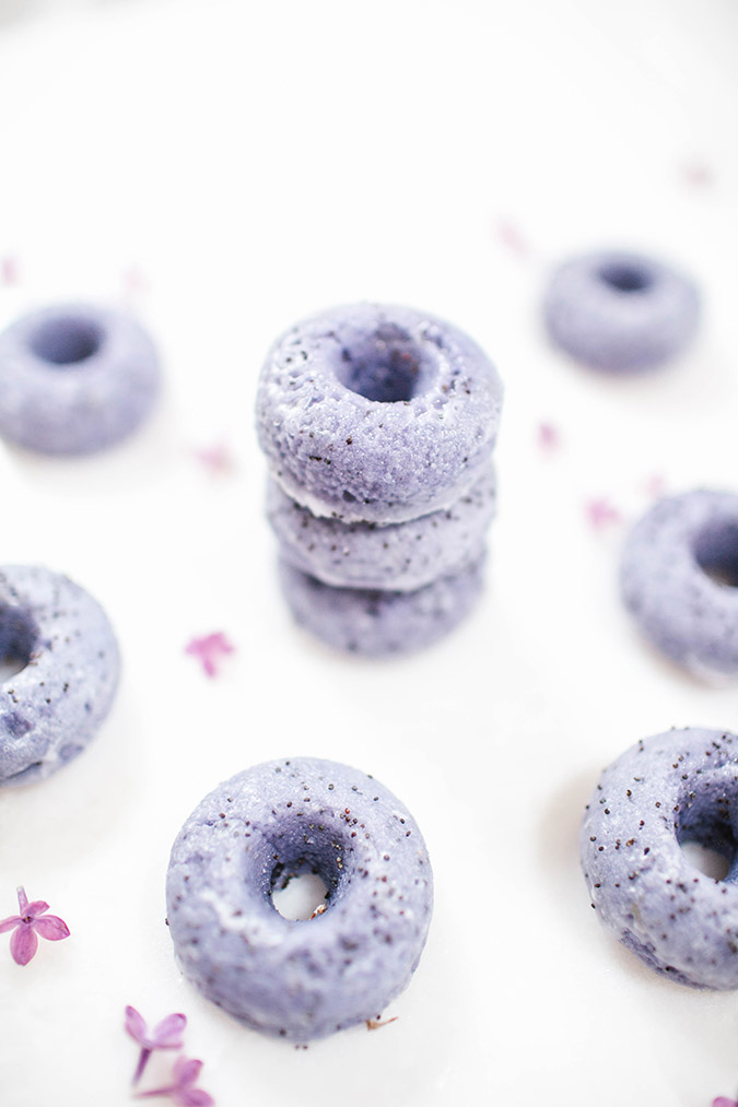 Lavender Poppyseed Donuts Recipe
