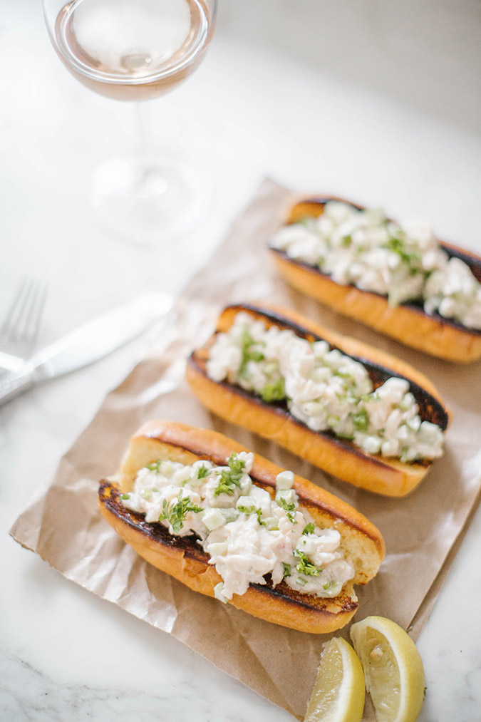 Homemade lobster roll recipe on LaurenConrad.com