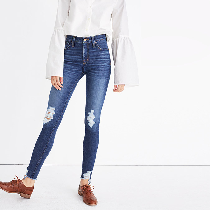 "Madewell 9"" High-Rise Skinny Jeans: Deconstructed Edition"