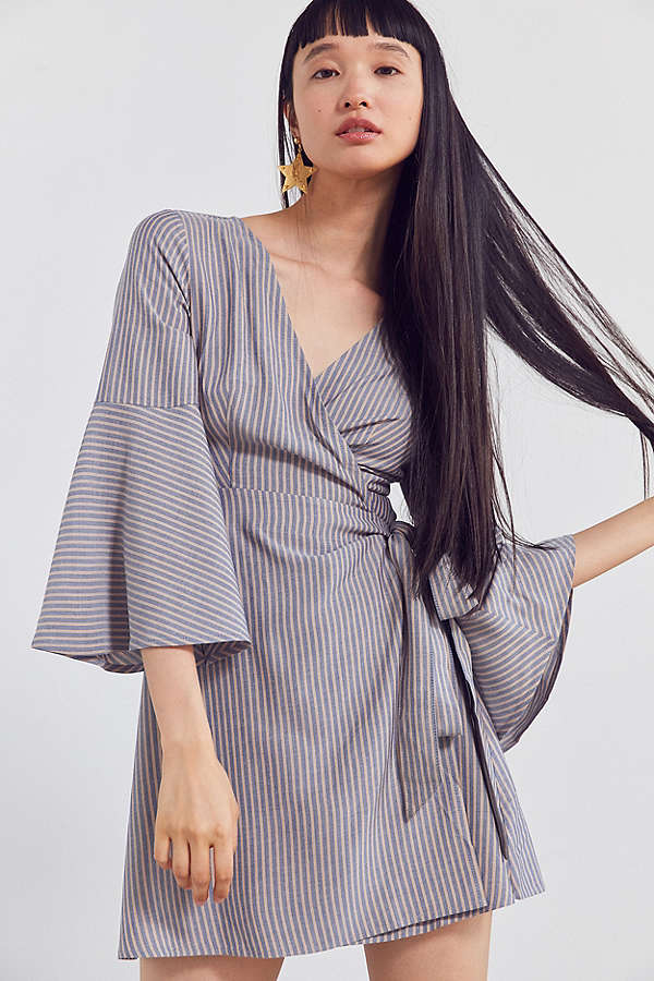 Urban Outfitters bell sleeve wrap dress