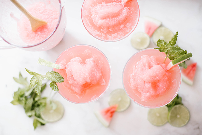 frozen watermelon moscow mule recipe via LC.com