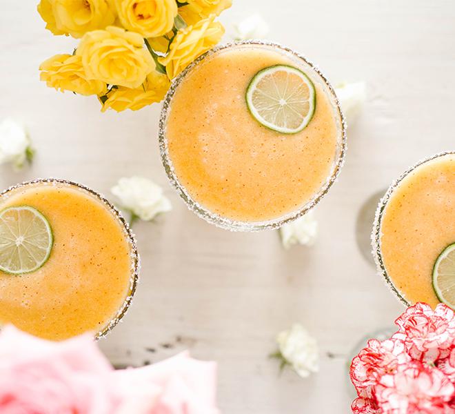 Lovely Libations: Frozen Peach Margarita