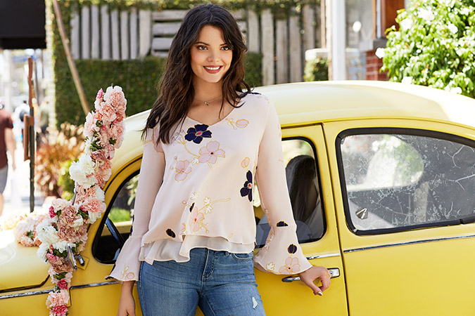 layered floral top by LC Lauren Conrad