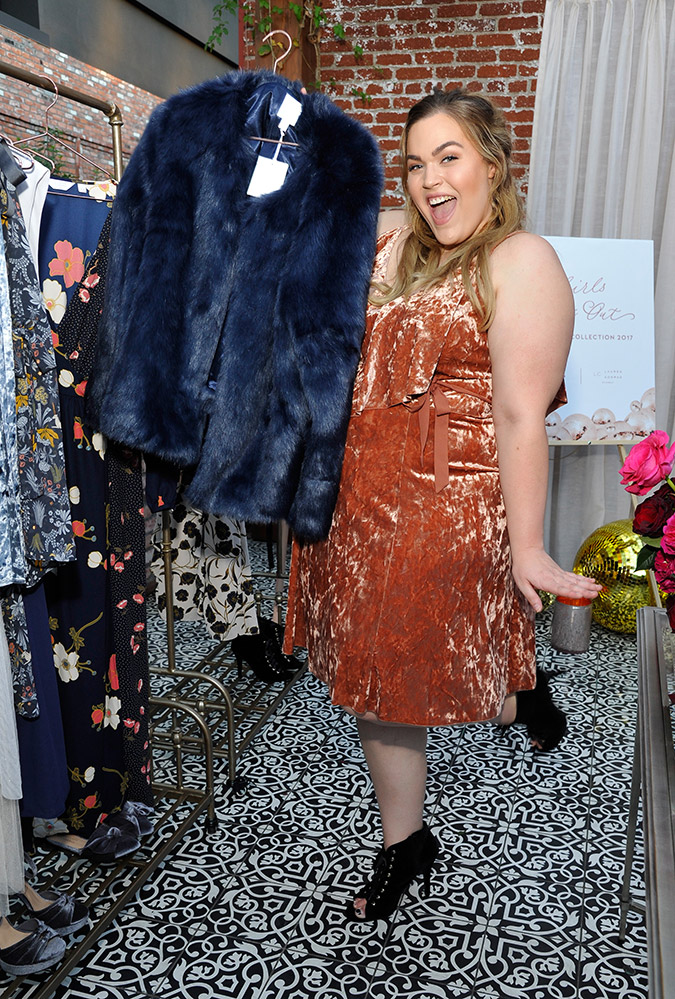 Loey Lane at the LC Lauren Conrad Runway launch event