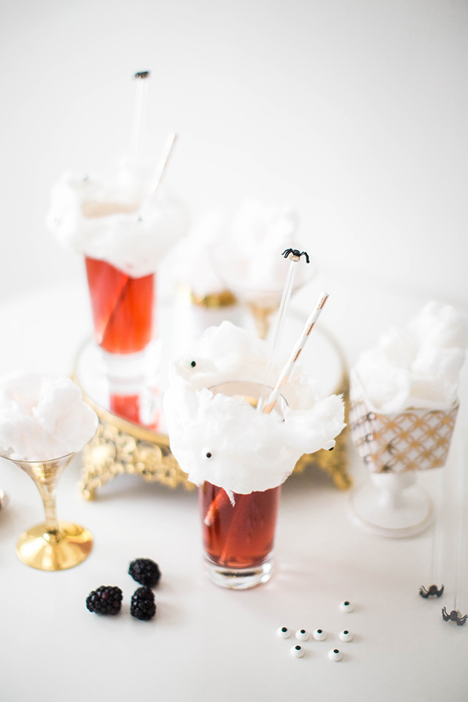 spooky cocktails for Halloween via LaurenConrad.com