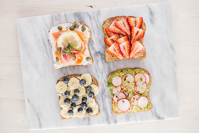 breakfast toast, 4 ways via LaurenConrad.com