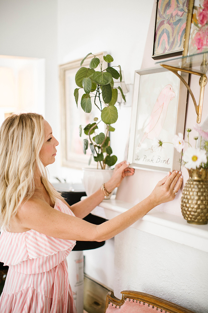 how to style a mantle like Lauren Conrad's prop stylist