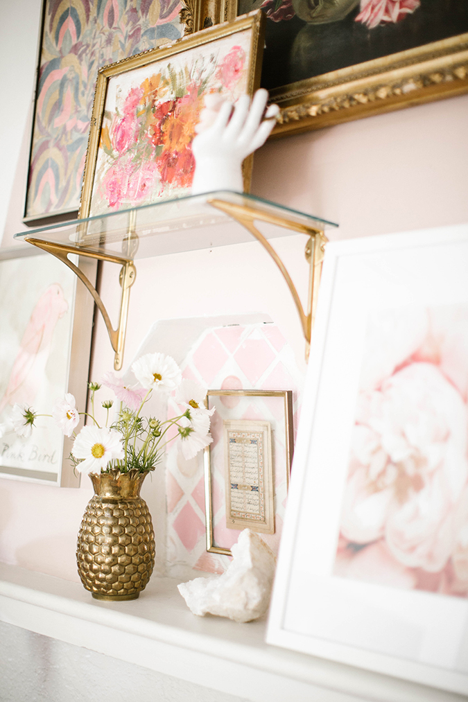 Kate Prop's pretty pink mantle