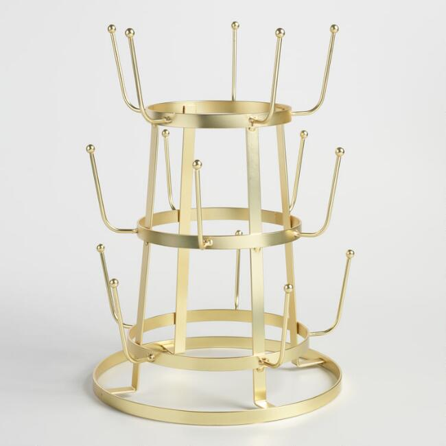World Market gold drying rack