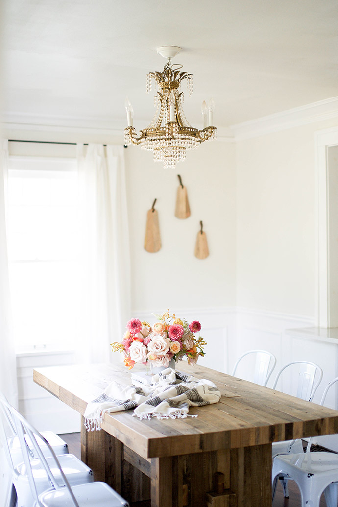 neutral dining room via Glitter Guide