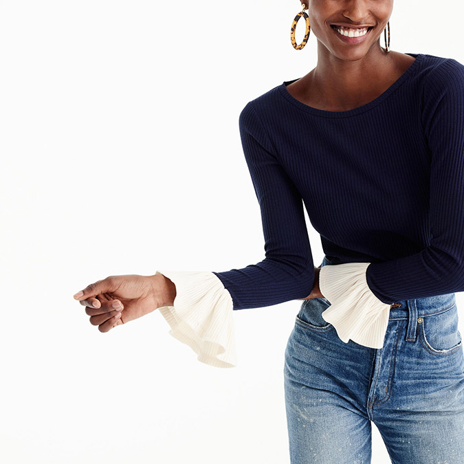 flutter sleeve tee from J. Crew
