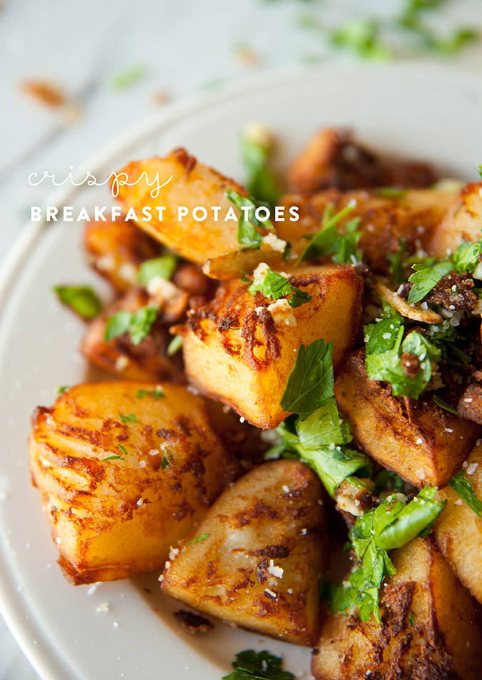 breakfast potatoes recipe via The Kitchy Kitchen on LaurenConrad.com