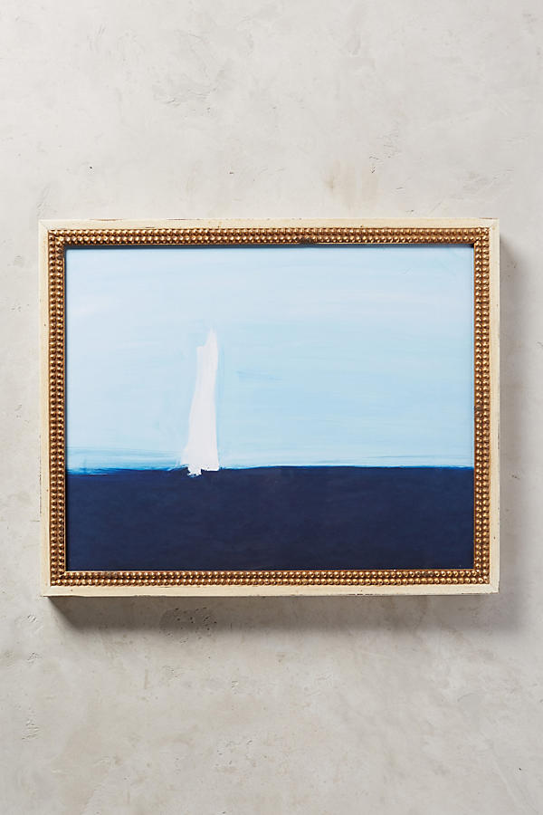 Anthropologie Sea Sailboat Wall Art