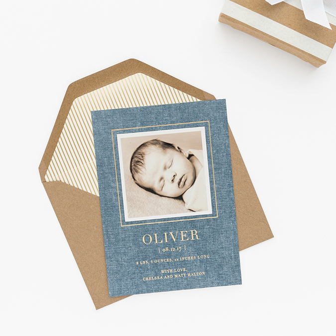 the cutest baby announcements with Sugar Paper