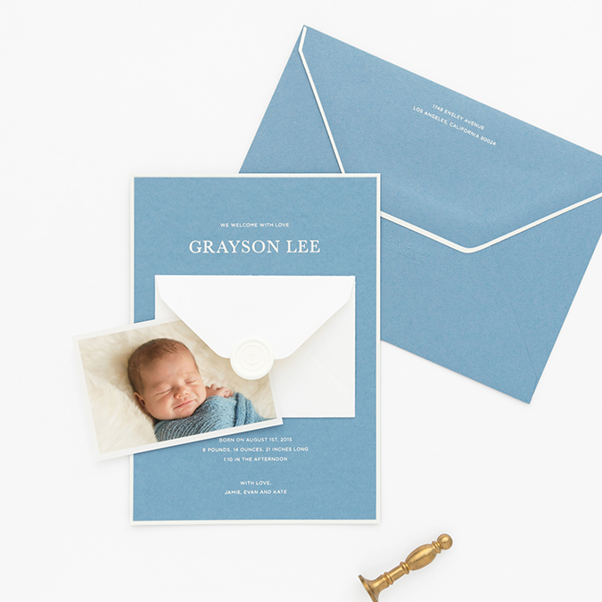 the sweetest baby announcements with Sugar Paper