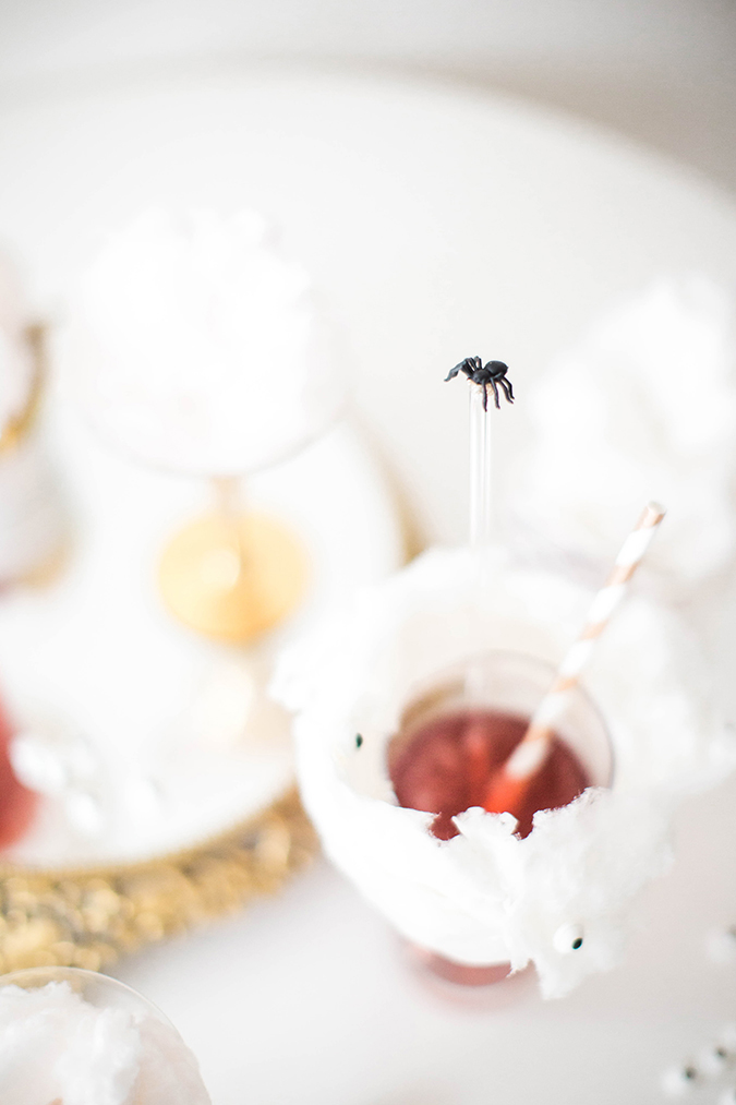 DIY Spider Swizzle Sticks on LaurenConrad.com