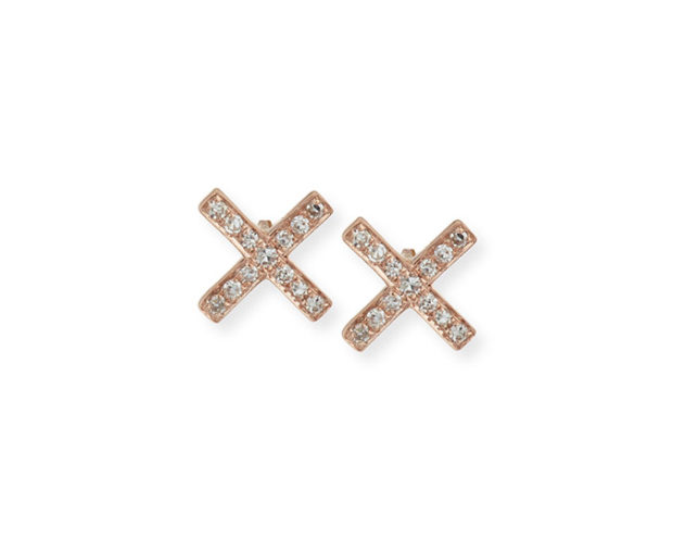 EF Collection Diamond Stud X Earrings
