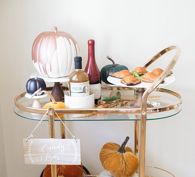Inspired Idea: A Halloween Bar Cart