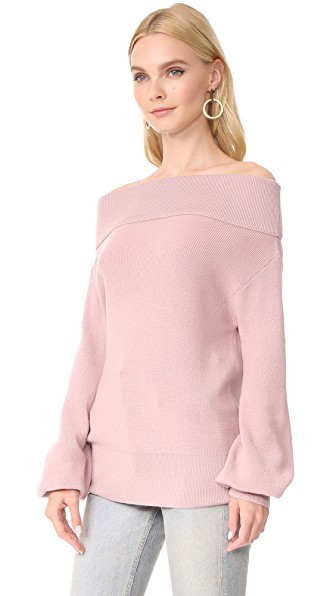 Fuzzi Off-Shoulder Sweater