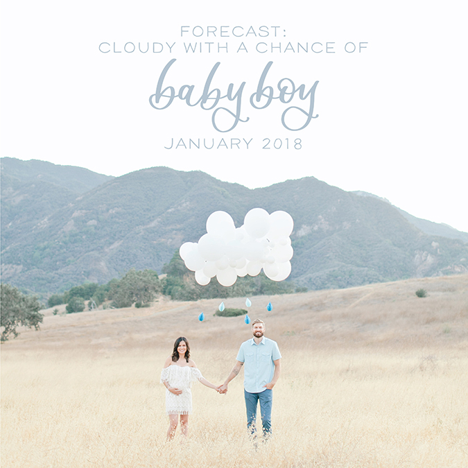 baby announcement shot by Megan Welker, lettered by Poppy Jack Shop
