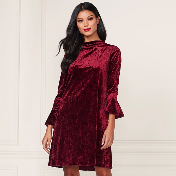 LC Lauren Conrad velvet dress