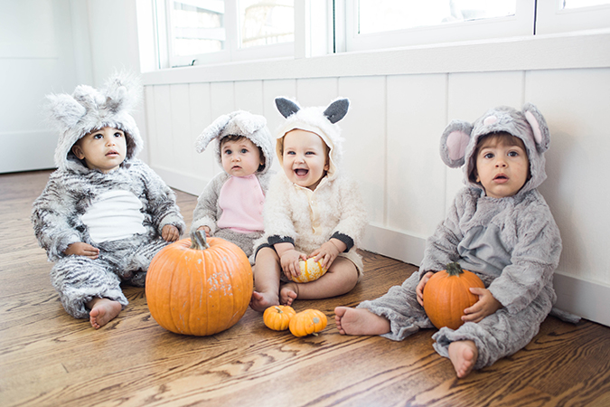 baby's first Halloween with Pottery Barn kids