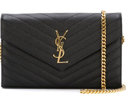 Ysl Monogram Chain Wallet