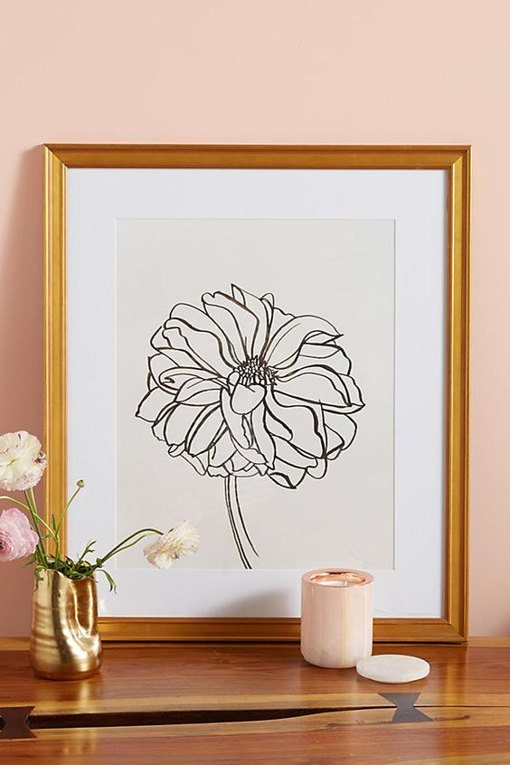 Anthropologie Dahlia Wall Art