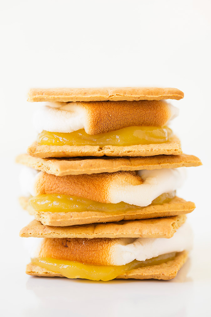 Lemon Meringue S'mores via Cooking Classy