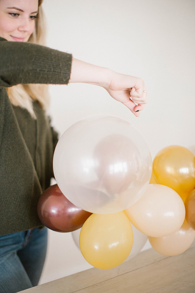 how to create your own balloon arch via LaurenConrad.com
