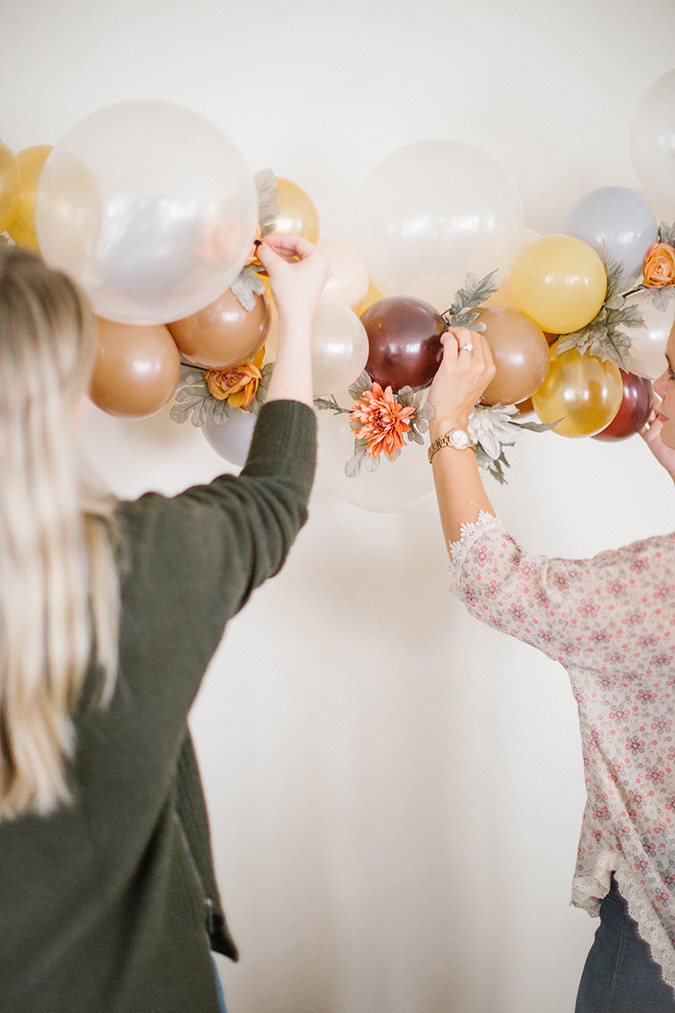 DIY balloon arch with Balloon Time on LaurenConrad.com