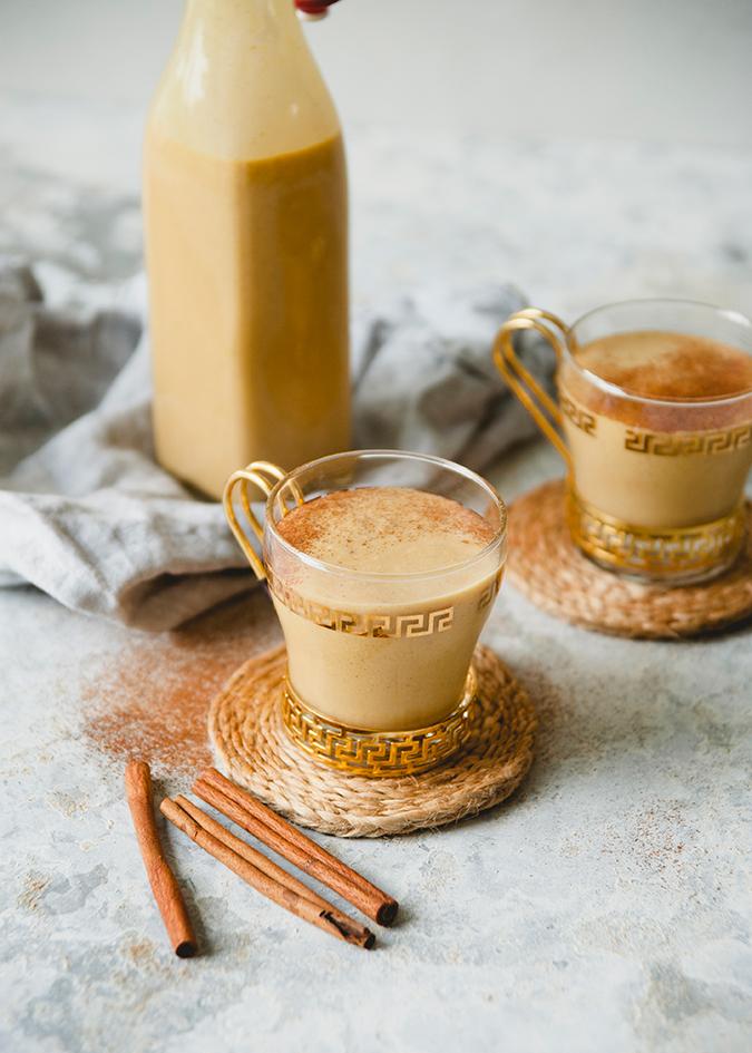 pumpkin spice almond milk on LaurenConrad.com