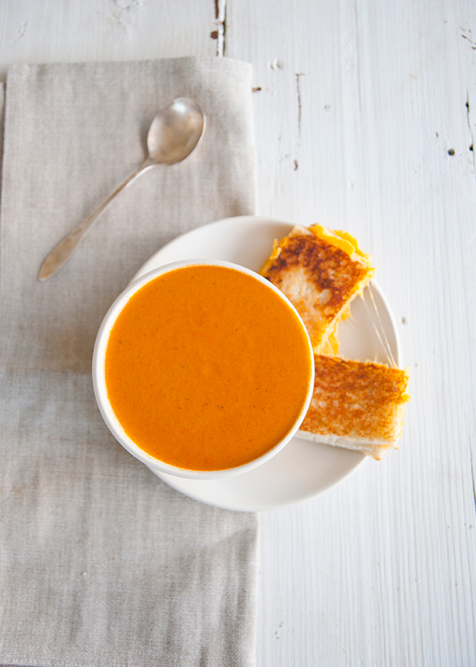 hearty and spicy tomato cream soup on LaurenConrad.com