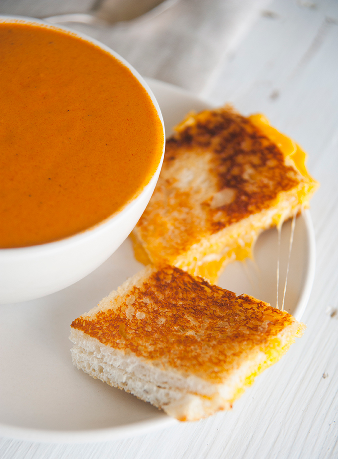 spicy tomato soup and grilled cheese recipe