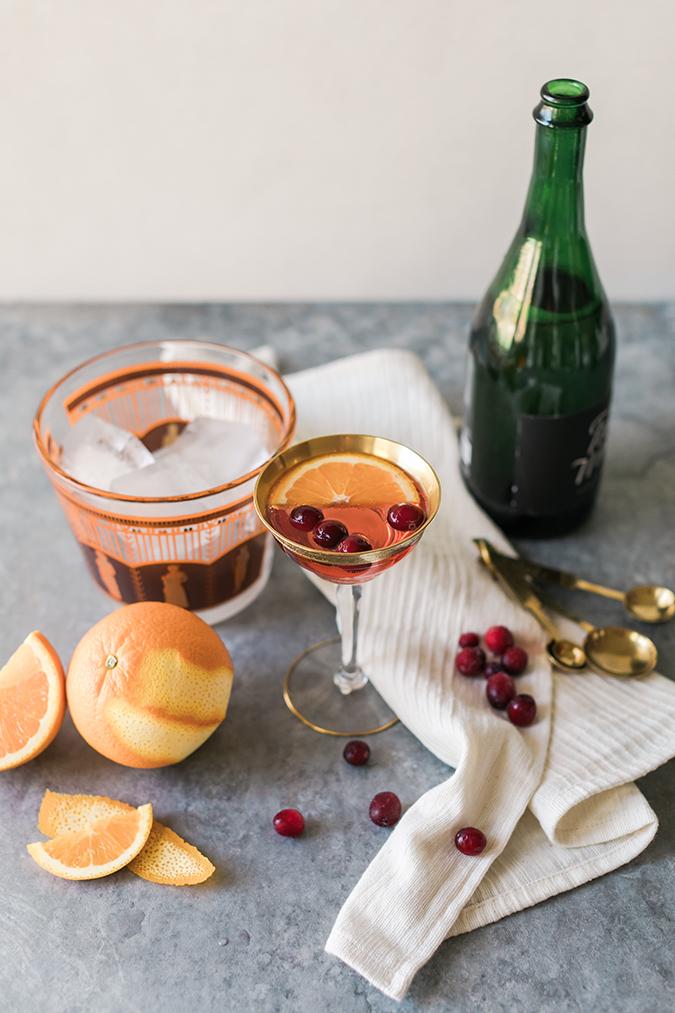 Sparkling Cranberry Mimosa recipe via LaurenConrad.com