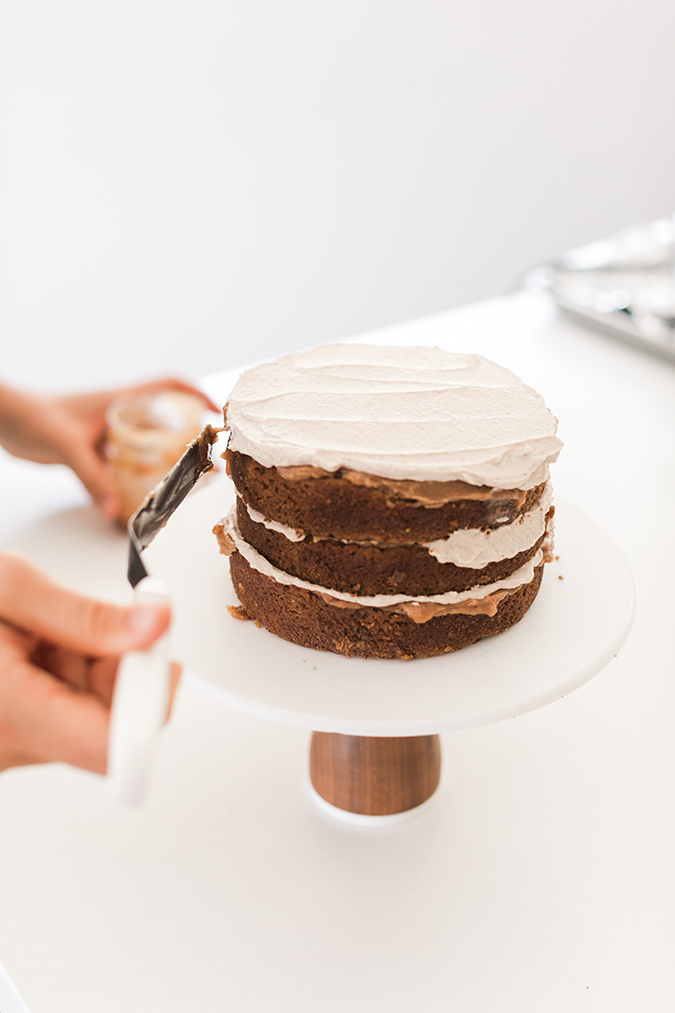 pumpkin spice caramel cake via LaurenConrad.com