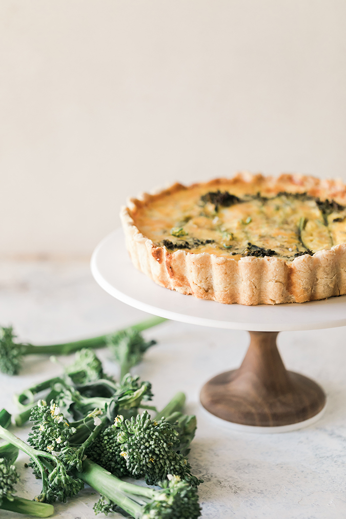 broccolini quiche via LaurenConrad.com