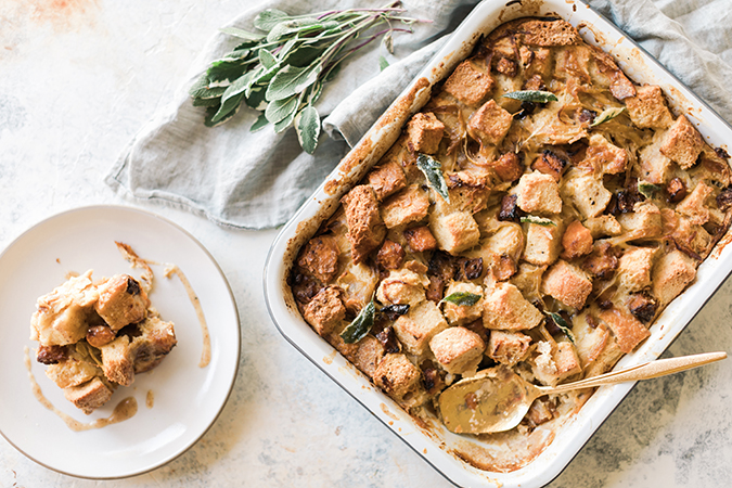 butternut squash bread pudding via LaurenConrad.com