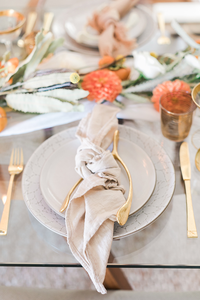fall tablescape via LaurenConrad.com