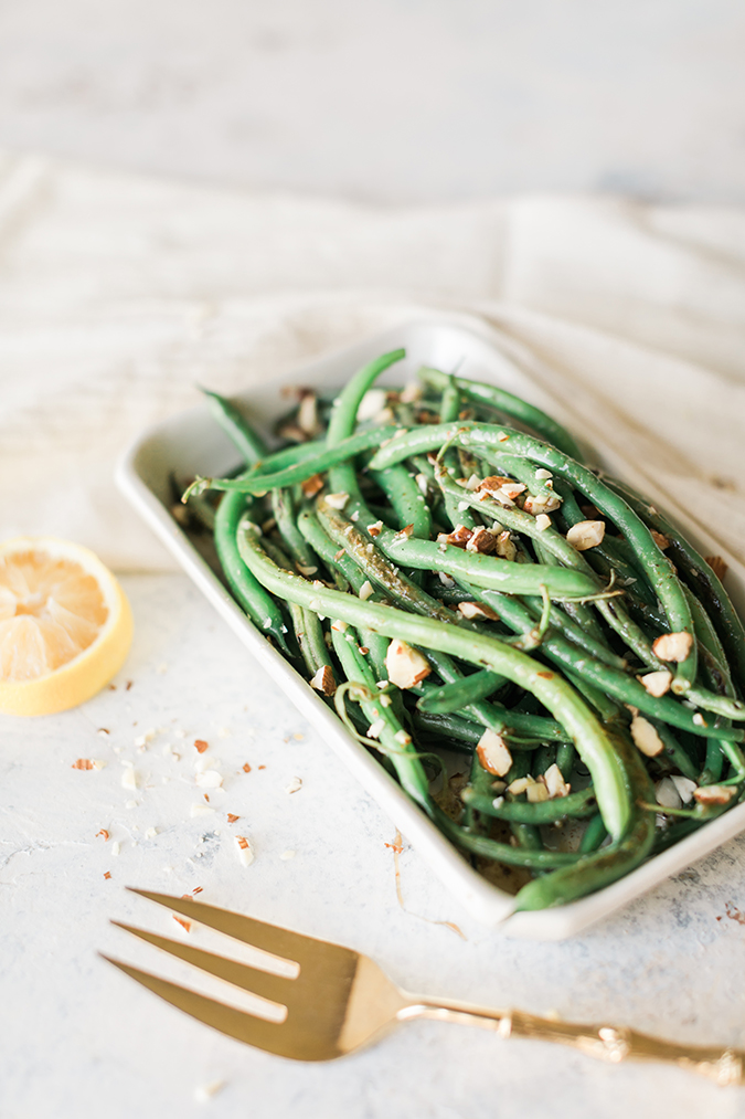 blistered green beans recipe via LaurenConrad.com