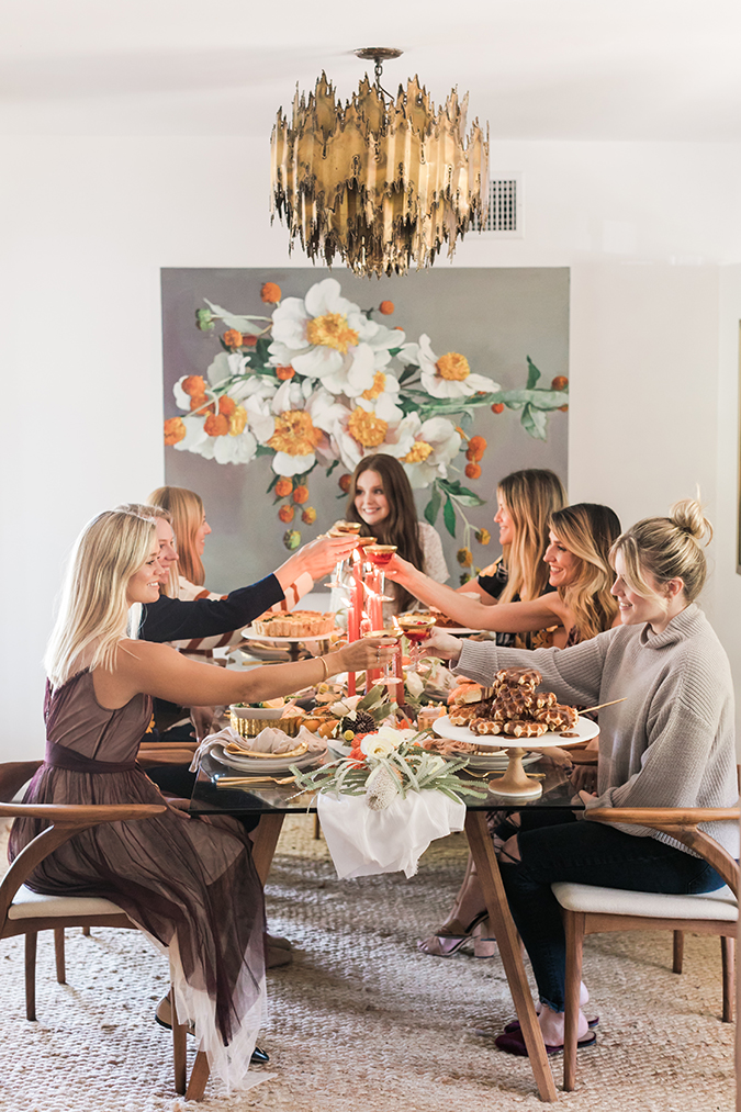 a friendsgiving celebration via LaurenConrad.com