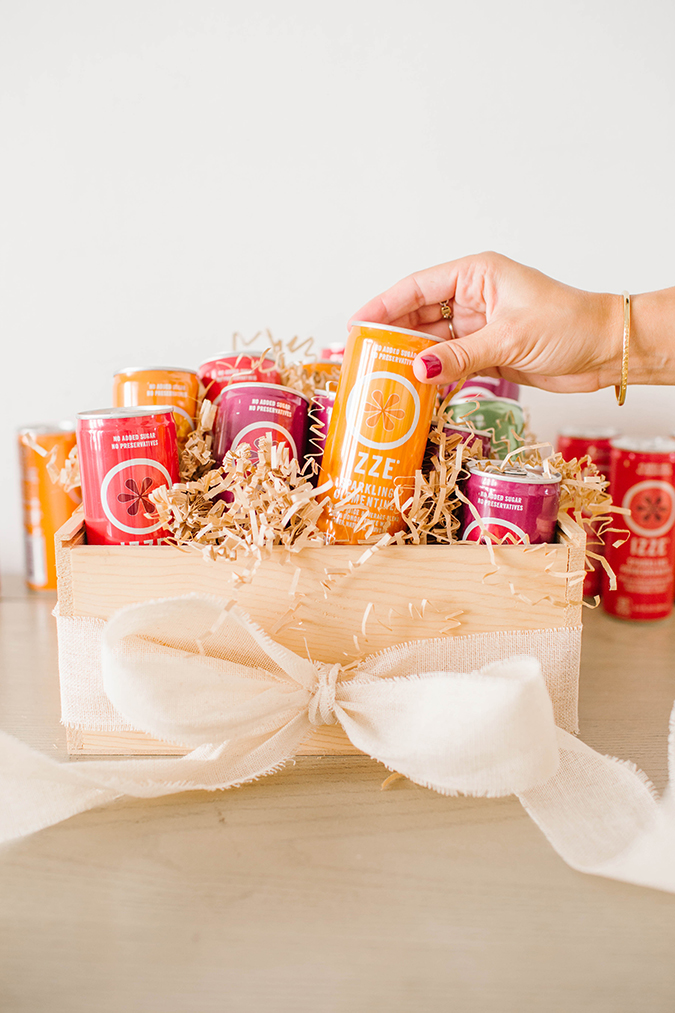 hostess gift boxes with IZZE on LaurenConrad.com