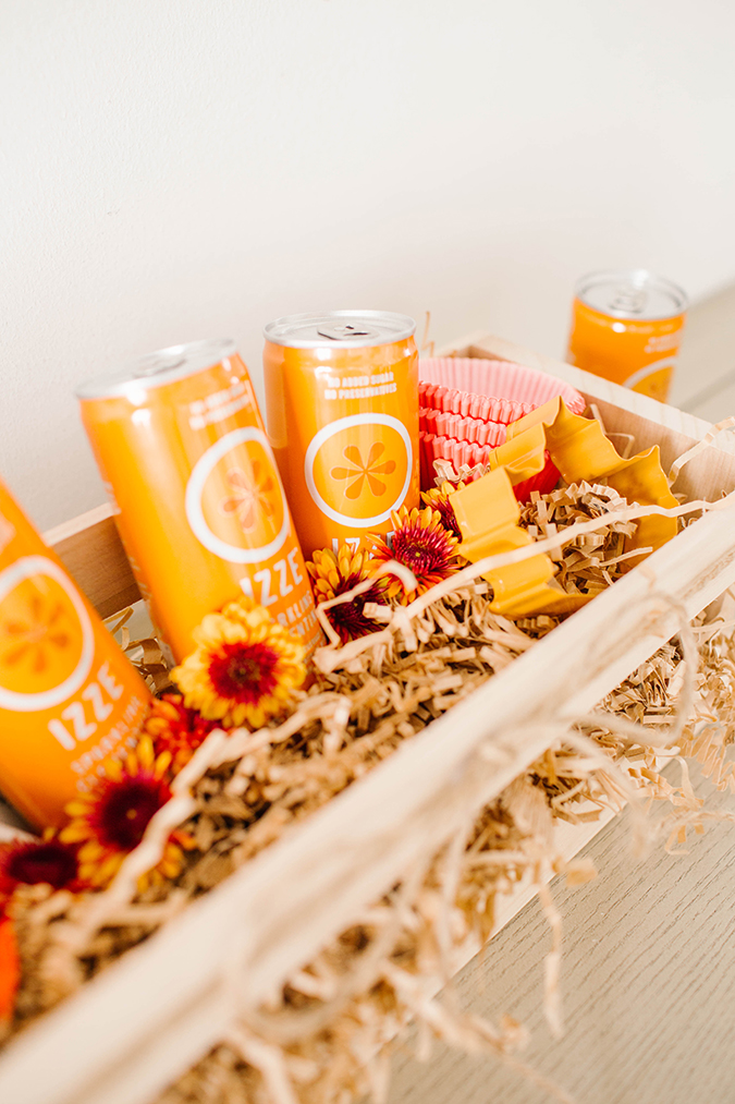 hostess gift box featuring IZZE