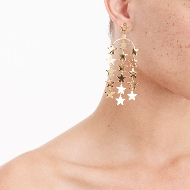 J Crew Falling Star Earrings
