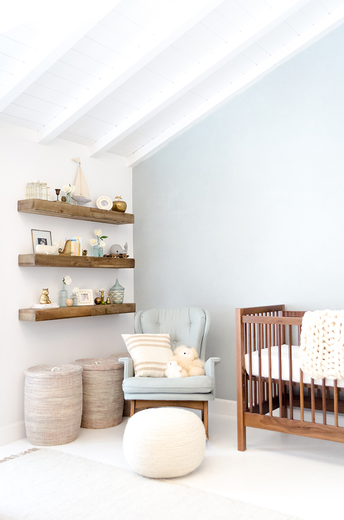 nursery floating shelves home makeover liam s sweet amp serene nursery conrad 1118