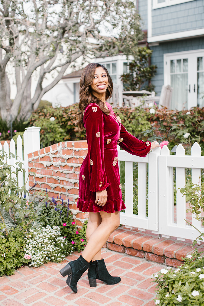 holiday velvet pieces via LaurenConrad.com
