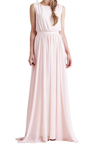 Paper Crown blush chiffon dress